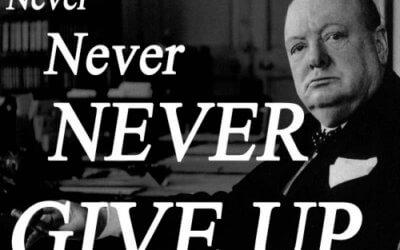 Nikoli ne obupaj-Churchill