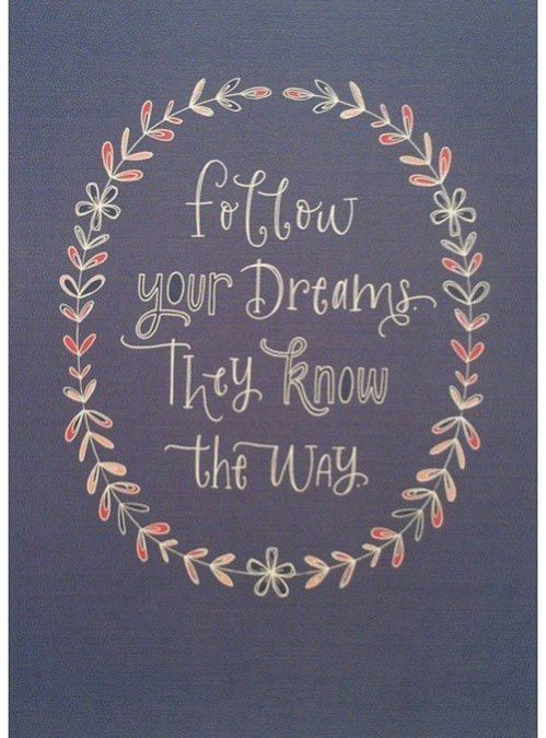 Sledite sanjam, one poznajo pot