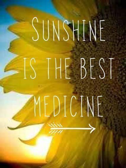 Sončna svetloba je najboljše zdravilo