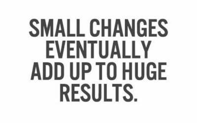 Majhne spremembe, veliki rezultati